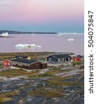 view of disko bay with icebergs ...   Shutterstock . vector #504075847