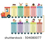 multiplication tables with... | Shutterstock . vector #504080077