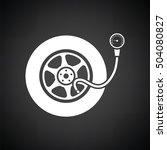 tire pressure gage icon. black... | Shutterstock .eps vector #504080827