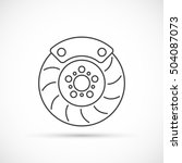brake disc outline icon | Shutterstock .eps vector #504087073