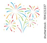 firework background  can be use ... | Shutterstock .eps vector #504121237