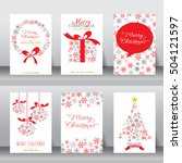 merry christmas holiday... | Shutterstock .eps vector #504121597