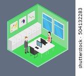 vector isometric office | Shutterstock .eps vector #504132283