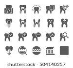 dental care icon | Shutterstock .eps vector #504140257