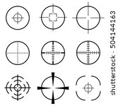 set of crosshair scope target | Shutterstock .eps vector #504144163