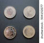 Small photo of Swiss franc (CHF) and Euro (EUR) coins