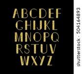 golden alphabet. vector set.... | Shutterstock .eps vector #504164893
