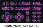 set of glossy violet buttons on ...