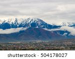 the city at the foot of the... | Shutterstock . vector #504178027