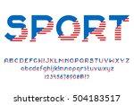 sport font. alphabet letters... | Shutterstock .eps vector #504183517
