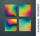 fluid iridescent multicolored... | Shutterstock .eps vector #504184837