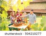 happy friends having fun... | Shutterstock . vector #504210277