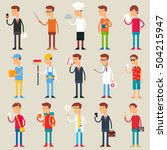 set of vector male characters ... | Shutterstock .eps vector #504215947