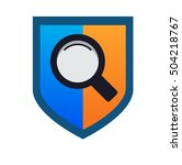 secure search logo. vector icon ...