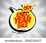 end of year sale  hot offer pop ... | Shutterstock .eps vector #504224197