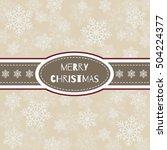 merry christmas card. the... | Shutterstock .eps vector #504224377