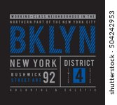 brooklyn typography  t shirt... | Shutterstock .eps vector #504242953