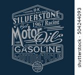 motor racing siverstone... | Shutterstock .eps vector #504244093