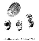 fingerprints vector | Shutterstock .eps vector #504260233