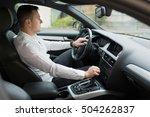 man driving his car | Shutterstock . vector #504262837