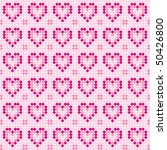 pink pattern from hearts | Shutterstock .eps vector #50426800