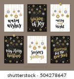 set christmas and happy new... | Shutterstock .eps vector #504278647
