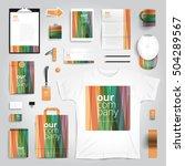 corporate identity stationery... | Shutterstock .eps vector #504289567