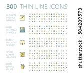 flat design icons for business  ... | Shutterstock .eps vector #504289573