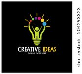 creative ideas logo design... | Shutterstock .eps vector #504293323