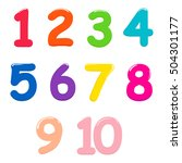 Colorful Bright Numbers For...