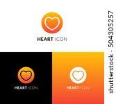 heart vector icon  logo.... | Shutterstock .eps vector #504305257