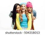 diverse nation girls group ...   Shutterstock . vector #504318013