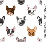 seamless pattern with cute... | Shutterstock .eps vector #504320767