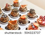 fantastic beautiful chocolate... | Shutterstock . vector #504323737