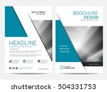 brochure annual report  layout... | Shutterstock .eps vector #504331753