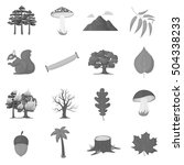 forest set icons in monochrome... | Shutterstock .eps vector #504338233