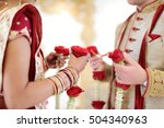 amazing hindu wedding ceremony. ... | Shutterstock . vector #504340963