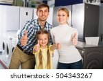 portrait of cheerful family... | Shutterstock . vector #504343267