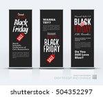 vector set of modern roll up... | Shutterstock .eps vector #504352297