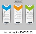 price list   three tariffs.... | Shutterstock .eps vector #504355123