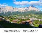 cortina d ampezzo resort  south ... | Shutterstock . vector #504365677