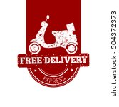isolated free delivery banner... | Shutterstock .eps vector #504372373