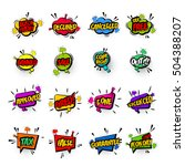 comic text business collection...   Shutterstock .eps vector #504388207