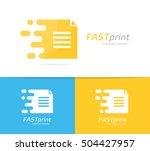 vector fast file logo... | Shutterstock .eps vector #504427957