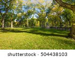 central park in the autumn | Shutterstock . vector #504438103