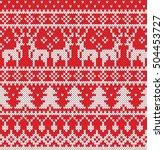 christmas sweater design.... | Shutterstock .eps vector #504453727