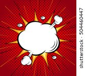 comic speech cloud bubble ... | Shutterstock .eps vector #504460447