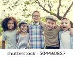 Casual Children Cheerful Cute Friends - Fine Art prints