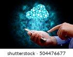 cloud computing  technology... | Shutterstock . vector #504476677