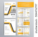 page layout for company profile ...   Shutterstock .eps vector #504476797